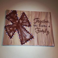 16x20 TOGETHER WE MAKE A FAMILY canvas