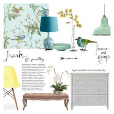 fresh & pretty by rachaelselina on Polyvore featuring polyvore interior interiors interior design home home decor interior decorating Stanley Furniture Retrò Safavieh Cyan Design Ethan Allen Jamie Young H&M
