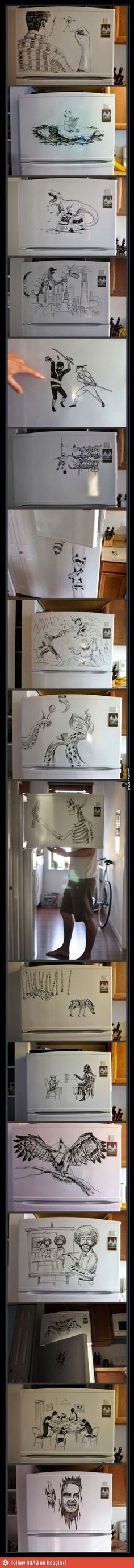 Amazing Fridge Drawing