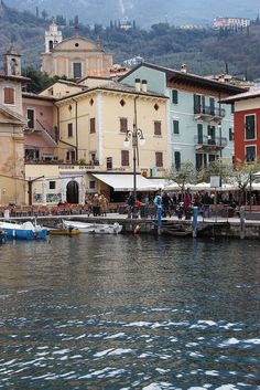 ~Harbor front of Malcesine, Italy~