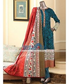 Pakistani Embroidered Lawn Collection 2015 By Junaid Jamshed Dress Suits, Dresses, Desi Clothes, Famous Brands, Silk Fabric, Daily Wear, Indian Outfits, Dress Collection, New Dress