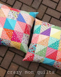 valued pillows - crazy mom quilts ...with bleached fabric!
