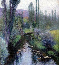 """Ducks on the Vert- Henri Martin  These colors are just so serene and comforting - I think I'll take a vacation there in my mind and just stare at it while sipping ginger-peach tea and thinking 'happy thoughts"""" - BOY and I in a bad place...."""