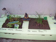 #Garden, #Herbs, #PalletPlanter, #RecycledPallet