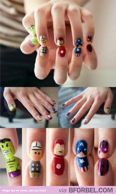 Cutest. Avengers. Nails. EVER