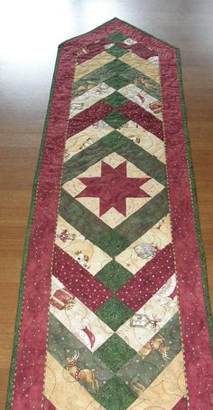 Christmas Quilted Table Runner Table Runner Quilt Christmas