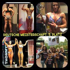 Nadine ist für uns die Siegerin. Sie hat auf der deutschen Meisterschaft in der Figurklasse den 5. PLATZ gemacht und einen Pokal geholt. Sensationeller Erfolg. Herzlichen Glückwunsch.