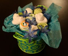 Dinosaur Baby Clothes Bouquet by AmandaPandaCrafts on Etsy, $35.00