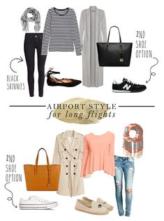 Peppered In Style – Friday favorites: Airport Style for long flights Peppered … – travel outfit plane long flights Travel Capsule, Travel Wear, Travel Style, Travel Fashion, Travel Chic, Long Flight Outfit, Long Flight Tips, Vols Longs, Airplane Outfits