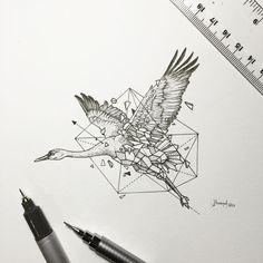Geometric Beasts   Crane