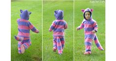 Tutorial: Cheshire Cat Halloween costume for little kids