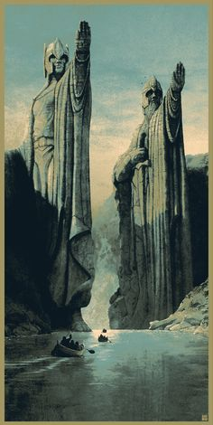 """The Argonath, long have I desired to look upon the kings of old"" inspired by 'The Lord Of The Rings: The Fellowship Of The Ring' by Matt Ferguson"