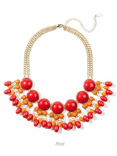 the fun colors of the spot drop collar in red is simply delightful