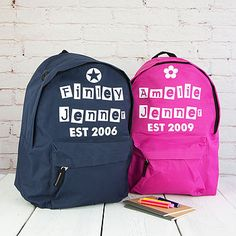 5a45f98f7dd0 personalised est children s rucksack by 3 blonde bears