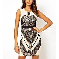 Moda Lace Vest Vestido das mulheres – EUR € 61.37