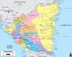 map of nicaragua - Google Search