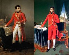1) 1802-JEAN-ANTOINE GROS-Firs consul Bonaparte, 205 x 127cm. Musée de la Légion d'honneur, Paris.  2) 1804-INGRES-Napoleon Bonaparte, primer cónsul, 227 x 147cm. Musée des Beaux-Arts, Lieja. Consul, Saree, Paintings, Fashion, Rain, Fine Arts Museum, Fine Art Paintings, Moda, Paint
