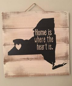 Home is Where the Heart is Buffalo NY Pallet Sign