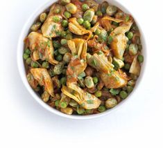 This healthy side dish, packed with artichokes and beans, works well with salmon or grilled pork