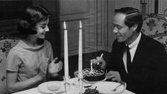 Audrey Hepburn and Mel Ferrer photographed in Paris for Motion Picture Magazine, 1957.