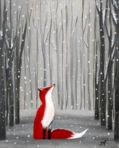 christmas paintings 70 Trendy Painting Ideas On Canvas Acrylic Red Bird Painting Acrylic, Fox Painting, Simple Acrylic Paintings, Winter Painting, Acrylic Canvas, Easy Paintings, Painting Acrylic Beginners, Acrylic Painting Inspiration, Painting Snow