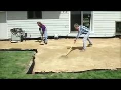 How to prepare for laying pavers - YouTube