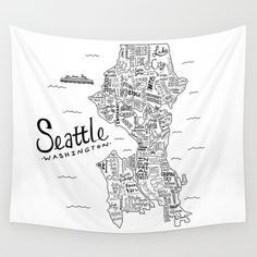 Seattle Wall Tapestry