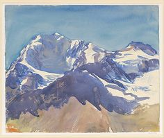 Snow, 1909-11, John Singer Sargent, Watercolor and graphite on white wove paper