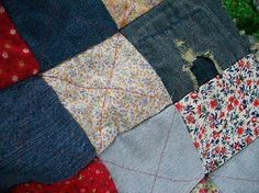 blue jean quilt - I want to make one of these. Anyone have any ideas?