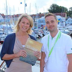 Charlotte Bergqvist, ordförande för Power Circle, elkraftbranschens intresseorganisation samt styrelseledamot i Svensk Vindenergi tar emot Fortums #Våga -pris i #Almedalen.
