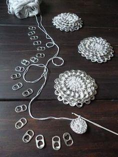 DIY ganchillo Pop Tab Monedero de la flor patrón gratuito y tutorial
