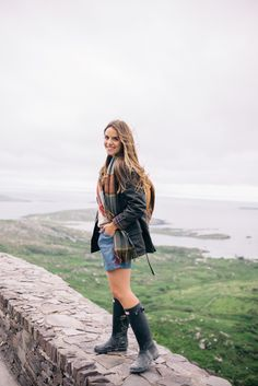 Julia Engel wearing Hunter Original Tall Boots on galmeetsglam.com/
