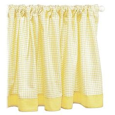 Yellow gingham curtains