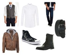 """Wonder Boy #7"" by muonss12 ❤ liked on Polyvore featuring Ted Baker, Topman, Lucky Brand, Converse, men's fashion and menswear"