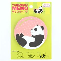 round die-cut panda animal letter Note Pad from Japan 2