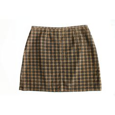 S/M Corduroy Plaid Mini Skirt 90's High Waist Short Spring Summer Boho... ($30) ❤ liked on Polyvore