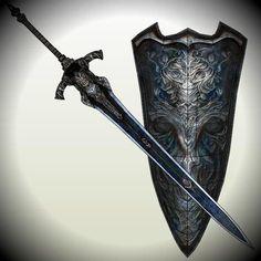 PAPERMAU: Dark Souls - Greatsword And Shield Of Artorias Paper Modelsby EuTytoAlba
