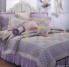 Chenille Patchwork quilts, pillow shams, quilted pillows, quilted throws and bedding accessories from C&F Enterprises. Rag Quilt, Quilt Bedding, Bedding Sets, Girl Bedding, Quilted Bedspreads, Quilted Pillow, Quilted Throws, Girls Quilts, Baby Quilts