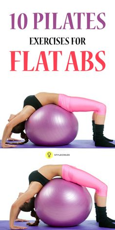 Top 10 Pilates Exercises For Flat Abs exercises are all about core strength. They improve the posture & tone the abdominals. Learn the best 10 pilates for abs to attain the flat . Flat Abs Workout, Pilates Workout Routine, Pilates Abs, Squat Workout, Pilates Reformer, Workout Videos, Exercise Routines, Exercise Motivation, Yoga Videos
