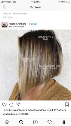 Just the color, NOT the cut. - My Style - Beauty Good Hair Day, Great Hair, Hair Color Formulas, Redken Color Formulas, Bilage Hair, Balayage Ombré, Bayalage, Redken Hair Color, Redken Hair Products
