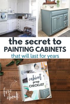 Painting cabinets is such an easy, inexpensive way to completely change the look of your kitchen or bathroom. But it can be confusing knowing what stes to take. Do you need to sand? Do you need primer? This free checklist walks you through figuring out exactly what steps to take to prep your cabinets for a paint finish that will last. Kitchen Ideas, Kitchen Decor, Diy Kitchen Remodel, Painting Cabinets, Paint Finishes, Kitchen Organization, Walks, The Secret, Prepping