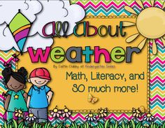 """Unit, """"All About Weather: Math, Literacy, etc"""" (from Kindergarten Smiles)"""