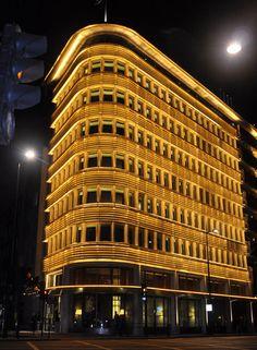 45 Park Lane, London, externally lit with Spanlite's LED Lightstikk Batten