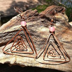 My Soul Can Dance Earrings  spiral / triangle  by MySoulCanDance.etsy.com