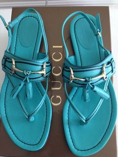 Turquoise sandals. These just make me smile.
