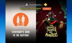 Bon Plan - Les jeux PS Plus du mois de Novembre