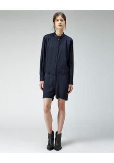 Camile satin short jumpsuit by Acne Studios / Short Skirts, Short Dresses, Short Jumpsuit, Playsuit, Fashion Online, Women Wear, Normcore, Makeup Style, My Style