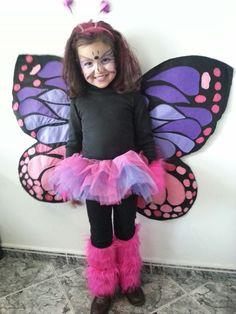 Mariposa disfraz niña.