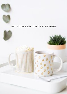 DIY Gold Leaf Decorated Mugs | eBay