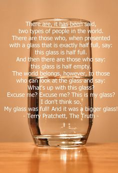 Terry Pratchett, The Truth- a quote no doubt dedicated to my little sister Emily
